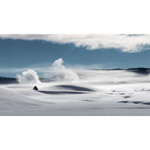 フリー写真, 風景, 自然, 雪, 冬, イエローストーン国立公園, アメリカの風景