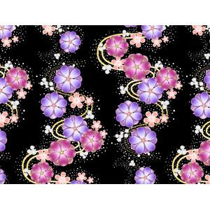 フリーイラスト, ベクター画像, AI, 背景, 和柄, 花柄, 梅(ウメ)