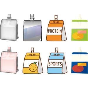 フリーイラスト, ベクター画像, AI, 飲み物(飲料), ゼリー飲料, ゼリー, 栄養補助食品