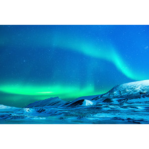 フリー写真, 風景, 自然, 夜, 夜空, オーロラ, アメリカの風景, アラスカ州