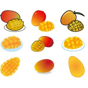 フリーイラスト, ベクター画像, AI, 食べ物(食料), 果物(フルーツ), マンゴー