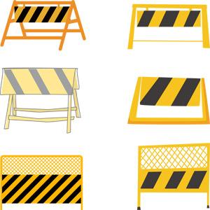 フリーイラスト, ベクター画像, AI, 工事, 土木, 工事用バリケード, 柵(フェンス), 立入禁止