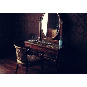 フリー写真, 風景, 部屋, 鏡台, 化粧台