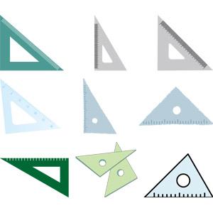 フリーイラスト, ベクター画像, AI, 文房具, 定規(物差し), 三角定規, 三角形(トライアングル)