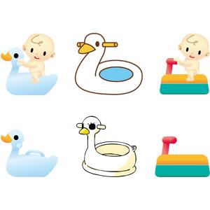 フリーイラスト, ベクター画像, AI, おまる, トイレ(便所), 便器, 育児用品, 赤ちゃん