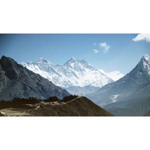 フリー写真, 風景, 自然, 山, エベレスト(チョモランマ), ヒマラヤ山脈, ネパールの風景