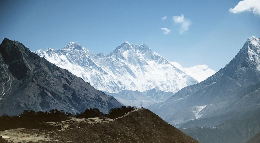 フリー写真 エベレストの山の風景