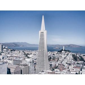 フリー写真, 風景, 建造物, 建築物, 高層ビル, 都市, 街並み(町並み), トランスアメリカ・ピラミッド, アメリカの風景, カリフォルニア州, サンフランシスコ