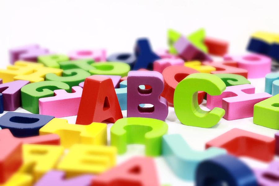 フリー写真 アルファベットの積み木