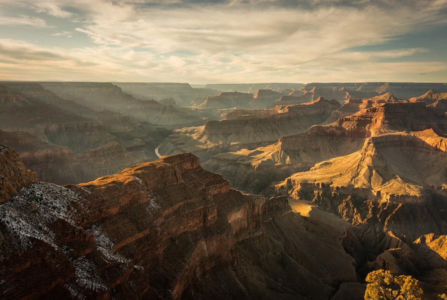 フリー写真 グランドキャニオンの渓谷の風景