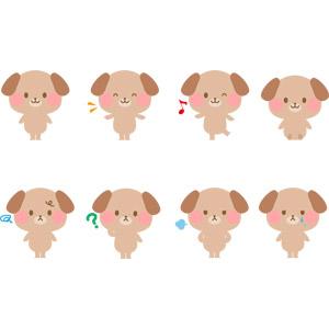 フリーイラスト, ベクター画像, AI, 動物, 哺乳類, 犬(イヌ), 泣く(動物), 怒る(動物)