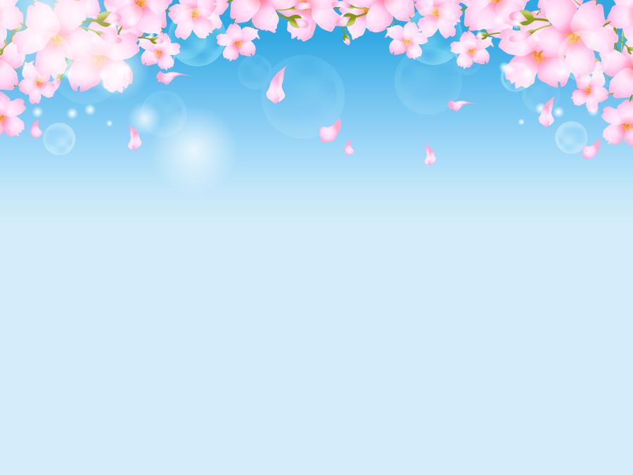 フリーイラスト 青空とさくらの花の背景