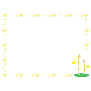 フリーイラスト, ベクター画像, AI, 背景, フレーム, 囲みフレーム, 植物, 土筆(ツクシ), スギナ, 春, 動物, 昆虫, 蝶(チョウ)