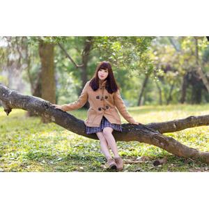 フリー写真, 人物, 女性, アジア人女性, 中国人, apple(00128), コート