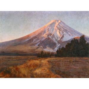 フリー絵画, 和田英作, 風景画, 自然, 山, 富士山, 日本の風景, 世界遺産