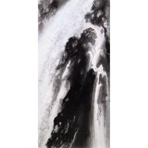 フリー絵画, 竹内栖鳳, 風景画, 自然, 滝, 日本の風景