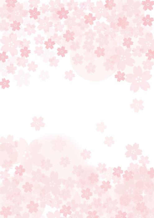 フリーイラスト 桜の花の縦型の背景