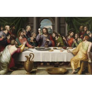フリー絵画, ビセンテ・フアン・マシップ, 宗教画, キリスト教, 新約聖書, イエス・キリスト, 十二使徒, 最後の晩餐, 食事, 食卓(テーブル)
