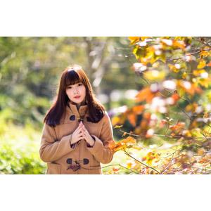 フリー写真, 人物, 女性, アジア人女性, apple(00128), コート, 手を組む