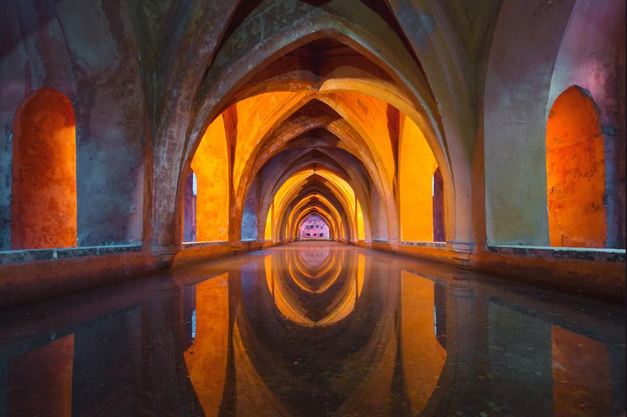フリー写真 アルカサルのマリア・デ・パディーリャの浴槽