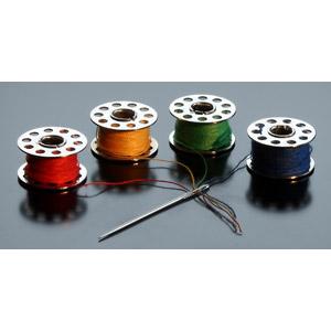 フリー写真, 裁縫道具, 縫い針, 針, ボビン, 糸