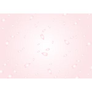 フリーイラスト, ベクター画像, EPS, 背景, 植物, 花, 花びら, 桜(サクラ), 桜吹雪, ピンク色