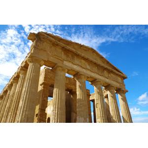 フリー写真, 風景, 建造物, 建築物, 遺跡, 神殿, 神殿の谷, 世界遺産, イタリアの風景