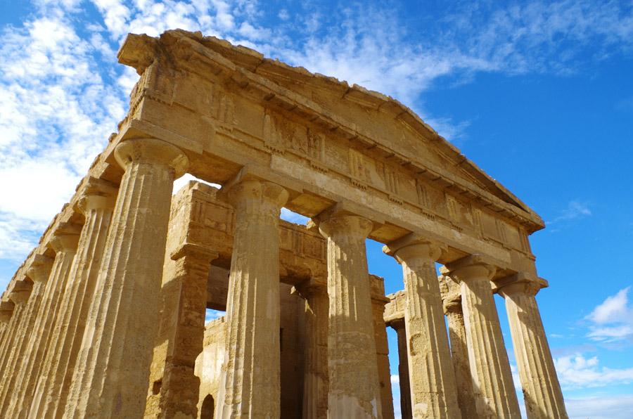 フリー写真 コンコルディア神殿の風景