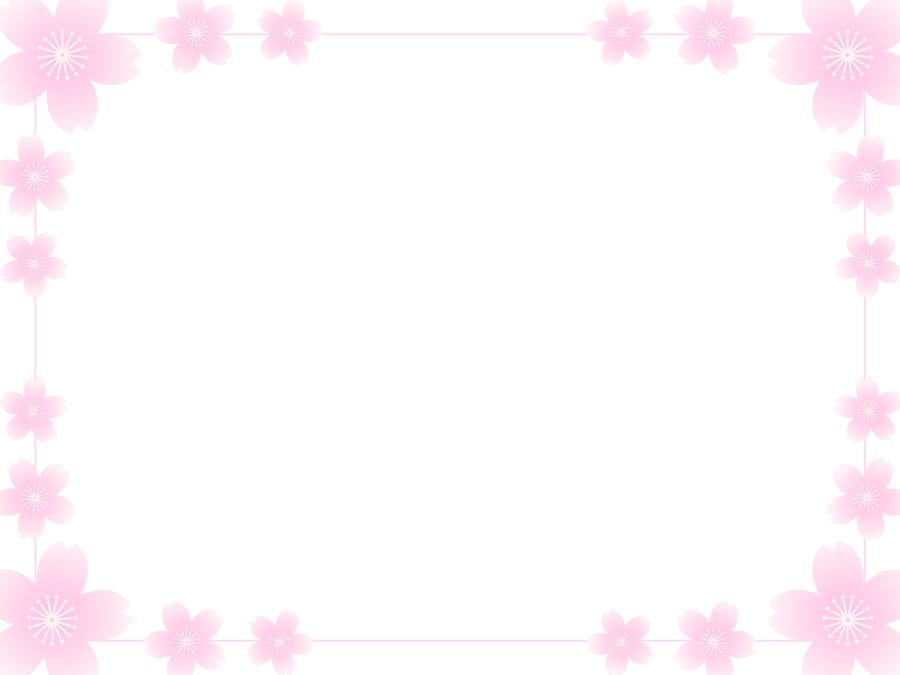 フリーイラスト 桜の花の囲みフレーム