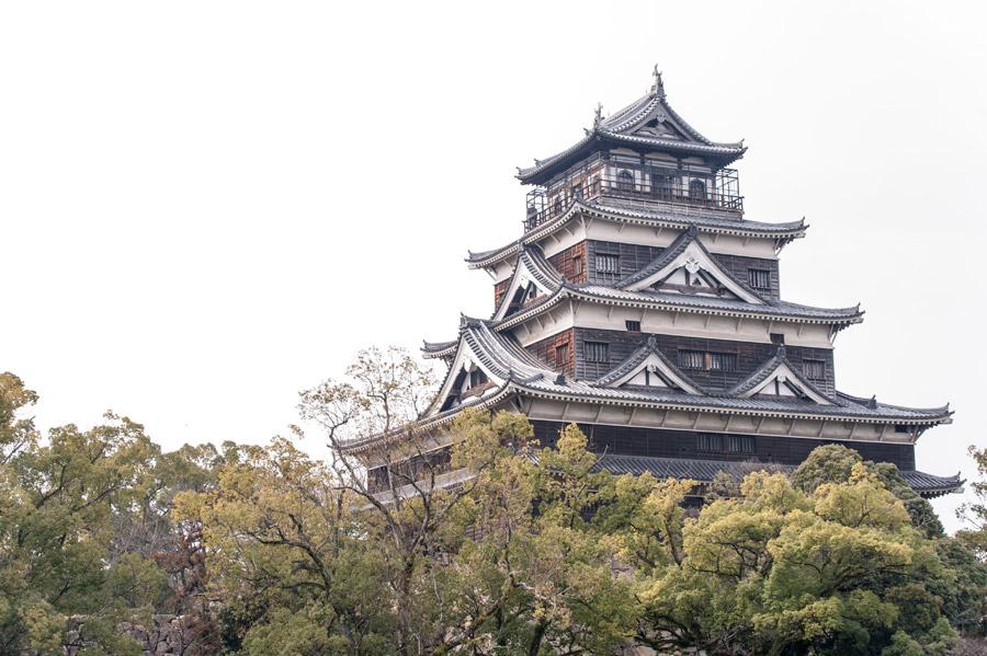 フリー写真 広島城の風景