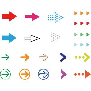 フリーイラスト, ベクター画像, AI, 矢印, 右を指す
