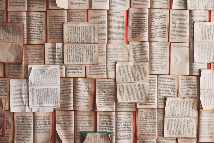 フリー写真 開いた本の壁