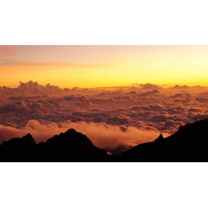 フリー写真, 風景, 自然, 雲, 雲海, 夕暮れ(夕方), 夕焼け, マレーシアの風景