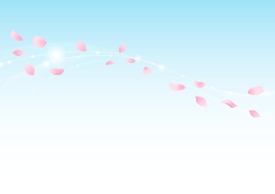 フリーイラスト 風に舞うさくらの花びらの背景