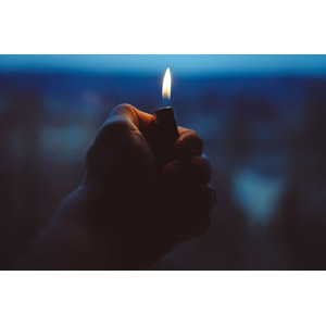 フリー写真, 人体, 手, ライター, 火(炎)
