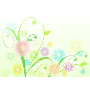 フリーイラスト, ベクター画像, AI, 背景, 植物柄, 花柄, 春