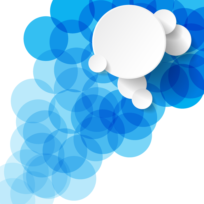 フリーイラスト 白色と青色の円の背景