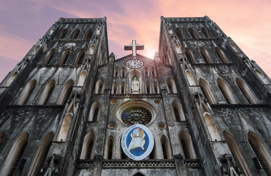 フリー写真 ハノイ大教会の風景