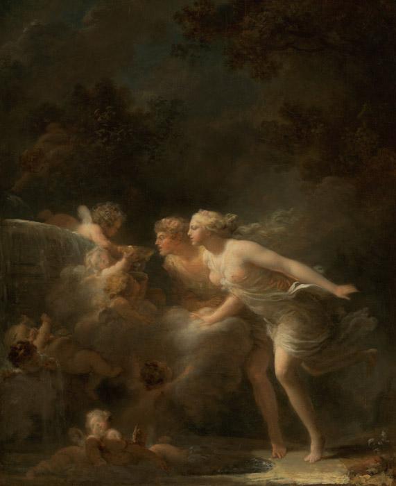 フリー絵画 ジャン・オノレ・フラゴナール作「愛の泉」