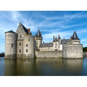 フリー写真, 風景, 建造物, 建築物, 城, シュリー=シュル=ロワール城, 世界遺産, フランスの風景