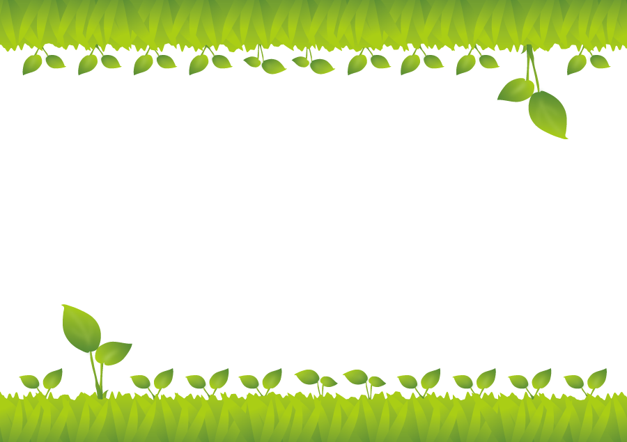 フリーイラスト 新芽の飾り枠