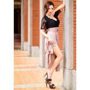 フリー写真, 人物, 女性, アジア人女性, 女性(00174), 中国人, ドレス