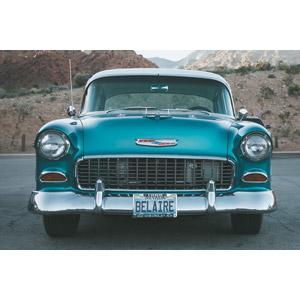 フリー写真, 乗り物, 自動車, クラシックカー, ゼネラルモーターズ, シボレー, シボレー・ベル・エアー