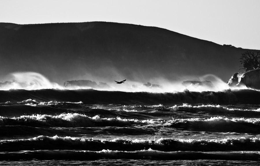 フリー写真 荒波の風景