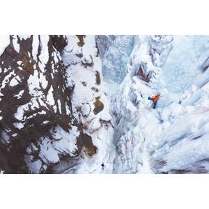 フリー写真, 人と風景, 氷, 雪, 岩山, 登山, スポーツ, アイスクライミング, 冬, 滝