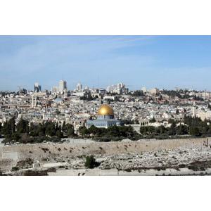 フリー写真, 風景, 建造物, 建築物, 都市, 街並み(町並み), 岩のドーム, モスク, イスラエルの風景, エルサレム
