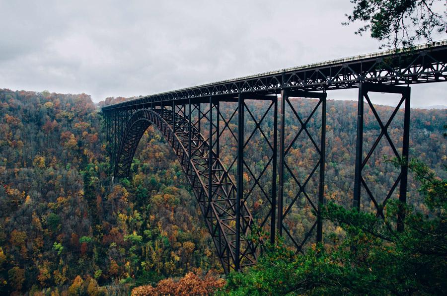フリー写真 ニュー リバー ゴージ橋の風景