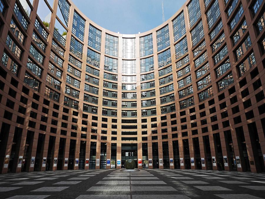 フリー写真 欧州議会が行われるルイーズ・ワイス・ビル