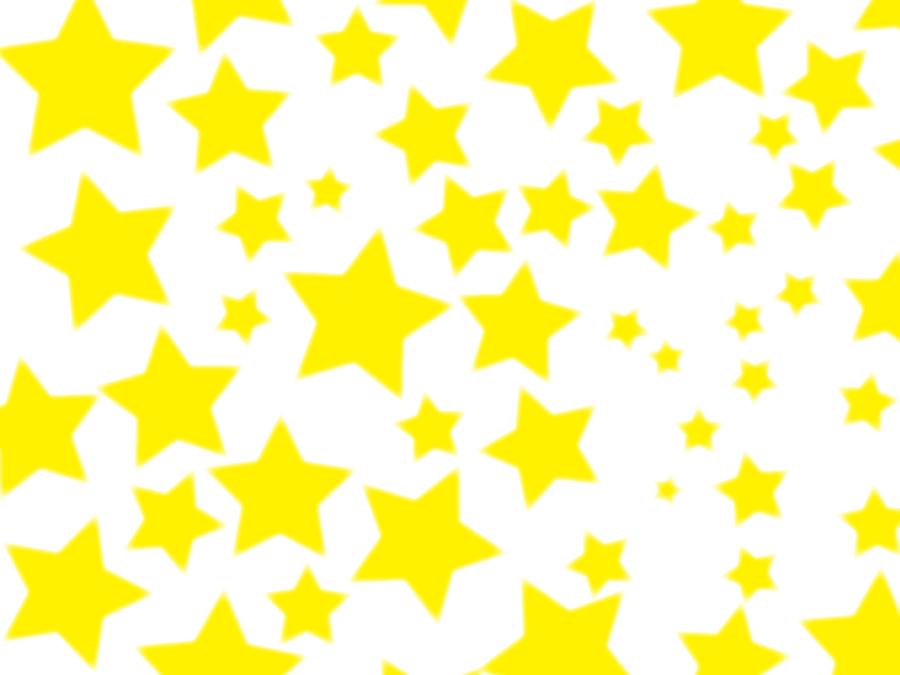 フリーイラスト 黄色の星の背景