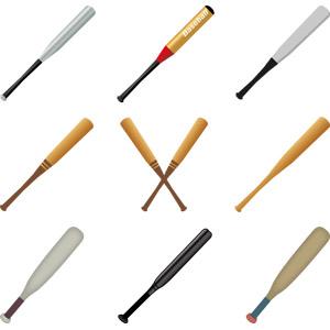 フリーイラスト, ベクター画像, AI, スポーツ, 球技, 野球(ベースボール), バット